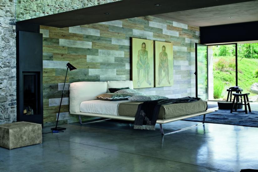 Camera da letto minimal chic, letto Academy di Twils