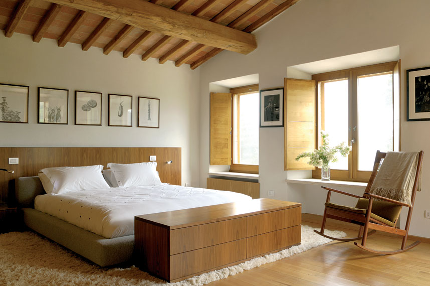 Villa Francisci, camera da letto