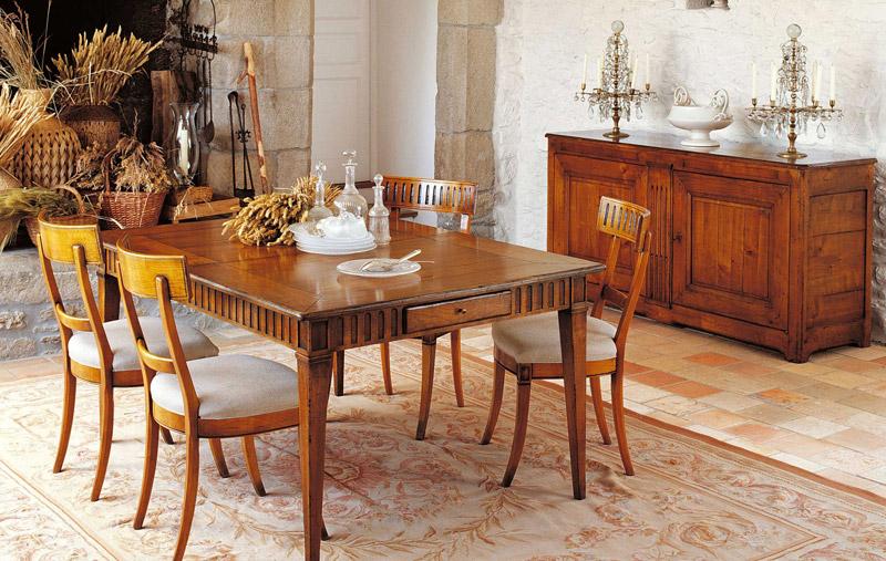Tavoli legno classici Roche Bobois Manoir