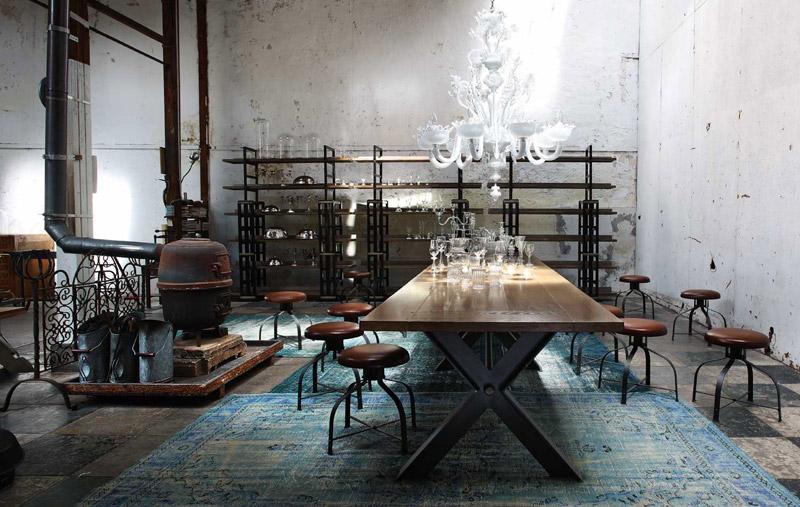 Tavoli legno classici Roche Bobois Syntaxe