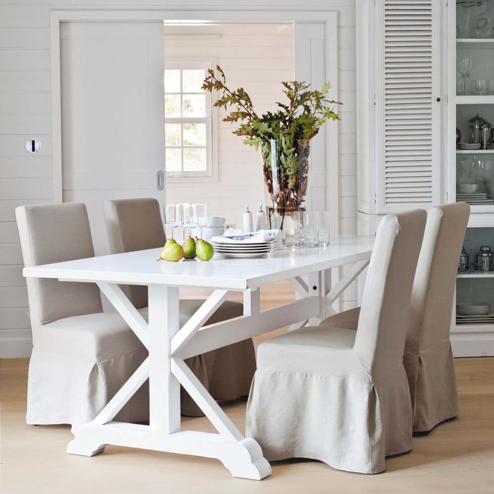 Tavolo legno bianco Atlantique
