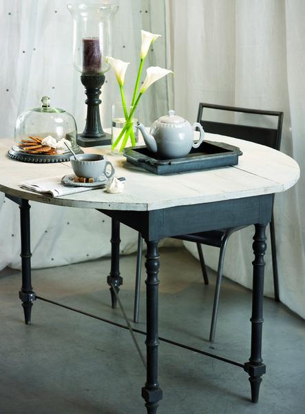 Tavolo bianco in legno di mango Ninon