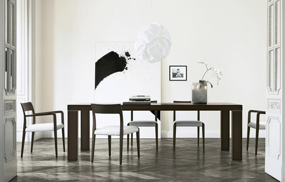 Master Due, tavolo in legno design moderno di Poliform