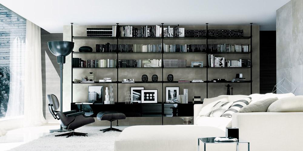 Libreria in alluminio Zenit