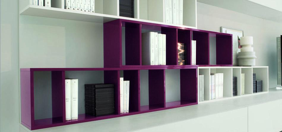 Tre librerie in legno firmate europeo arredica for Librerie in legno componibili