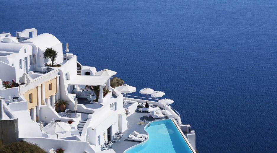Hotel Katikies a Santorini, l'architettura a stile libero