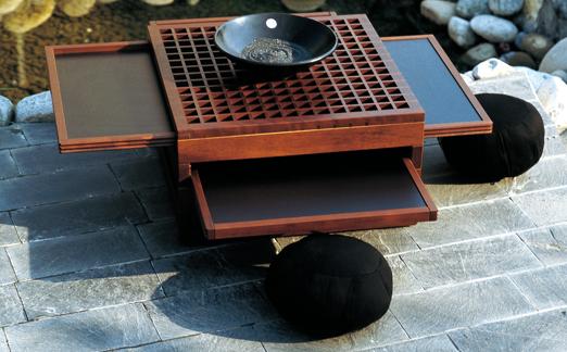 Tavolino giapponese Tetra di Urushi