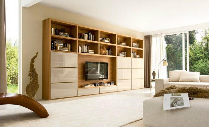 Sistema libreria per il soggiorno Class di Doimo Design