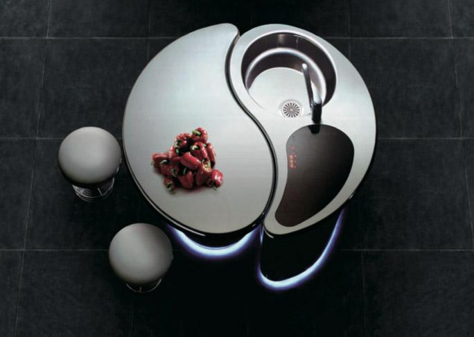 Isola S., cucina compatta di lusso contemporanea di Tokyo Kitchen Style
