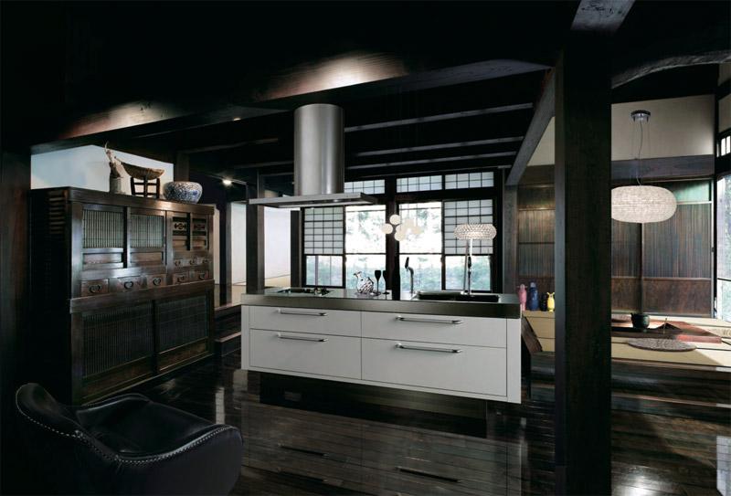 Isola la cucina contemporanea by tokyo kitchen style - Cucina di lusso ...