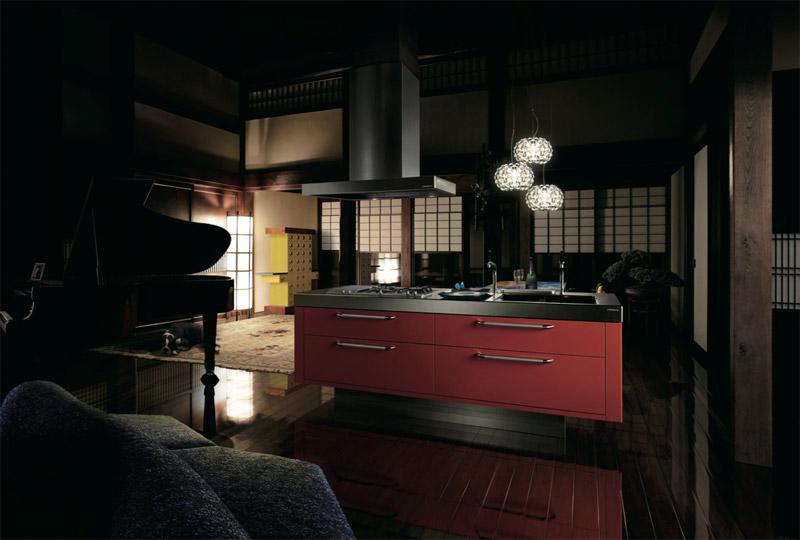Isola, cucina di lusso contemporanea di Tokyo Kitchen Style