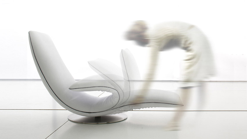 Poltrona chaise longue Ricciolo, Tonin Casa