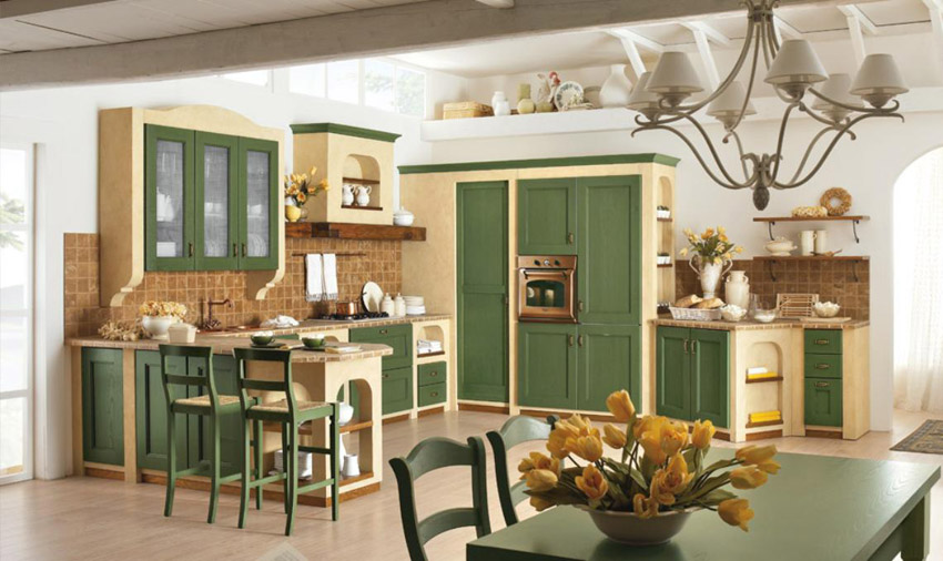 Provenza o stile British? Cucina Classica Componibile Certosa   Arredica -> Lampadari Per Cucina Classica
