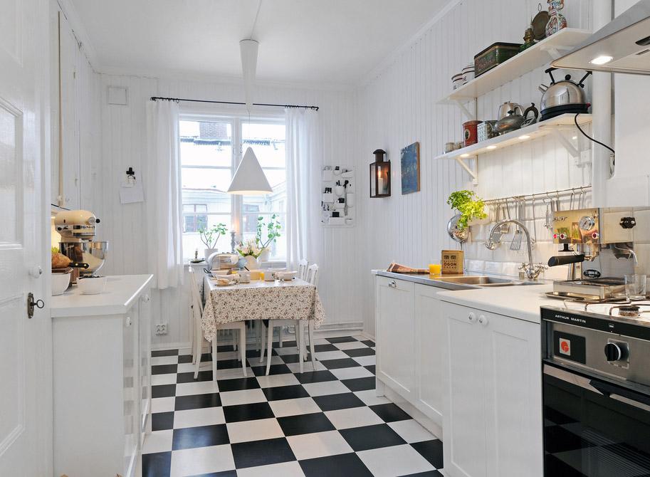 Lo stile svedese in cucina calore luce e colore arredica - Meglio luce calda o fredda in cucina ...