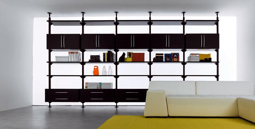 Web System di Casamania, sistema libreria in alluminio