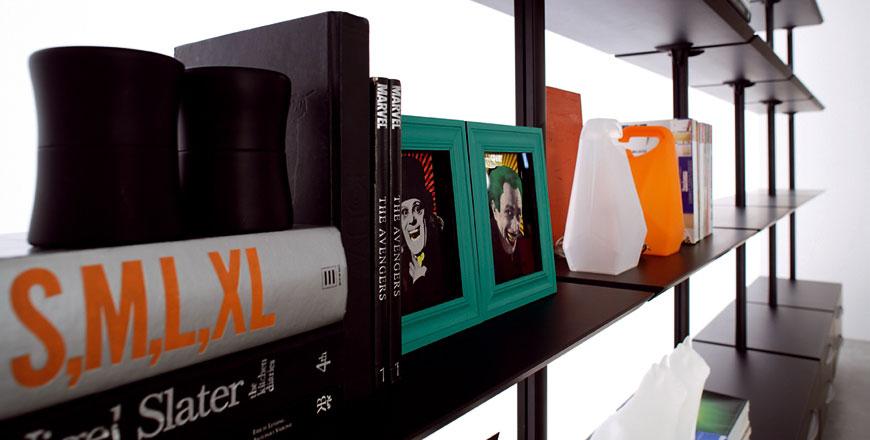 Web System di Casamania, sistema libreria o cabina armadio in alluminio