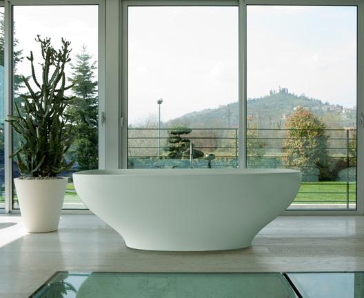 Genesis, vasca in ceramica di Ceramiche Globo