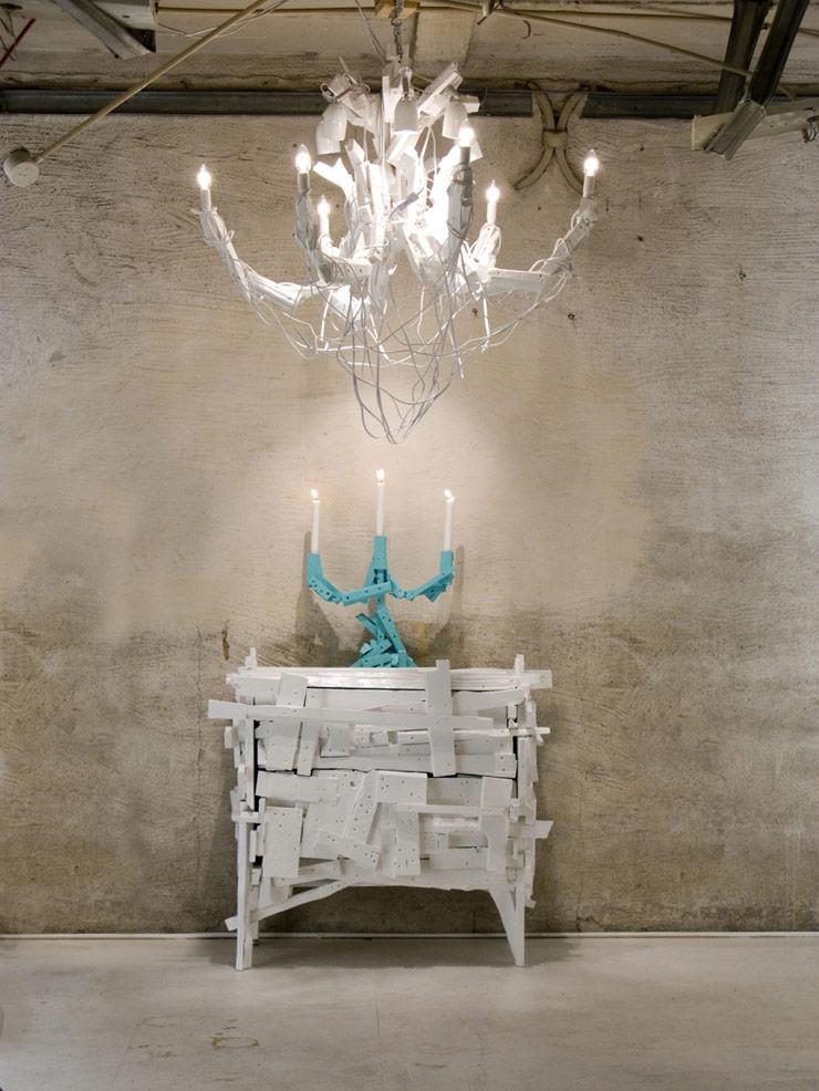 Mobile, Candeliere e Candelabro in legno riciclato, Godspeed