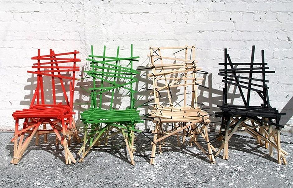 Sedie in legno riciclato, Godspeed