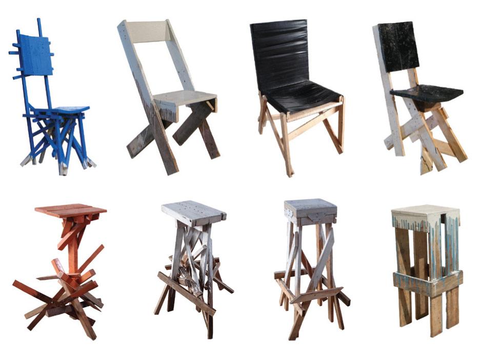 Godspeed e il legno riciclato in sedie sgabelli ed - Sedie in legno design ...