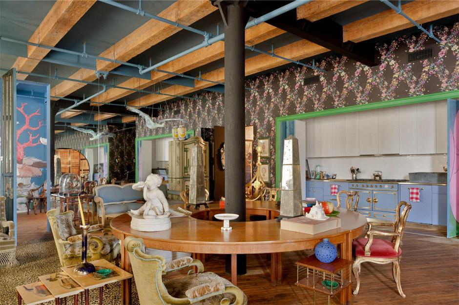 Loft di Agyness Deyn, Arredamento Kitsch, Cucina