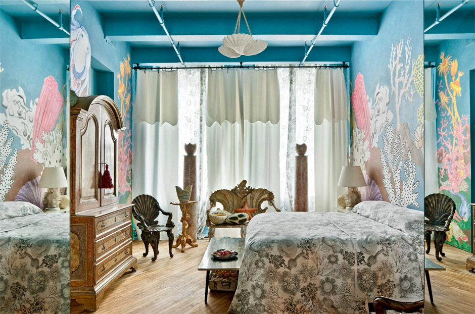 Loft di Agyness Deyn, Arredamento Kitsch, Camera da Letto