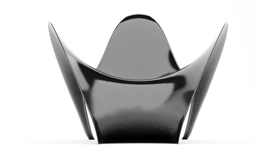 Poltrona in Fibra di Carbonio Manta, studio MAST 3.0