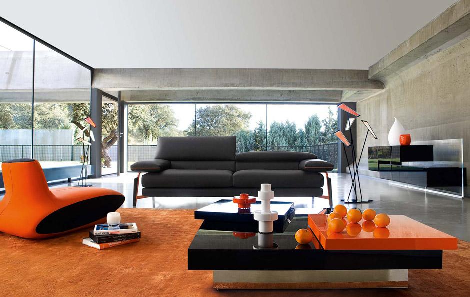 il soggiorno moderno con la nuova collezione roche bobois