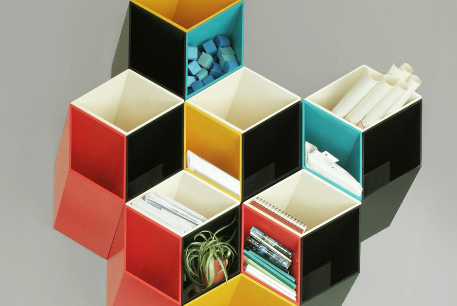 Imeuble, libreria modulare da parete