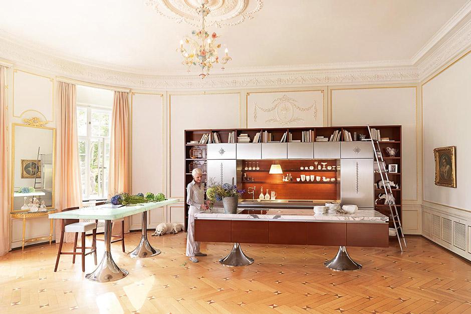 Cucina Moderna Library, cucina con libreria