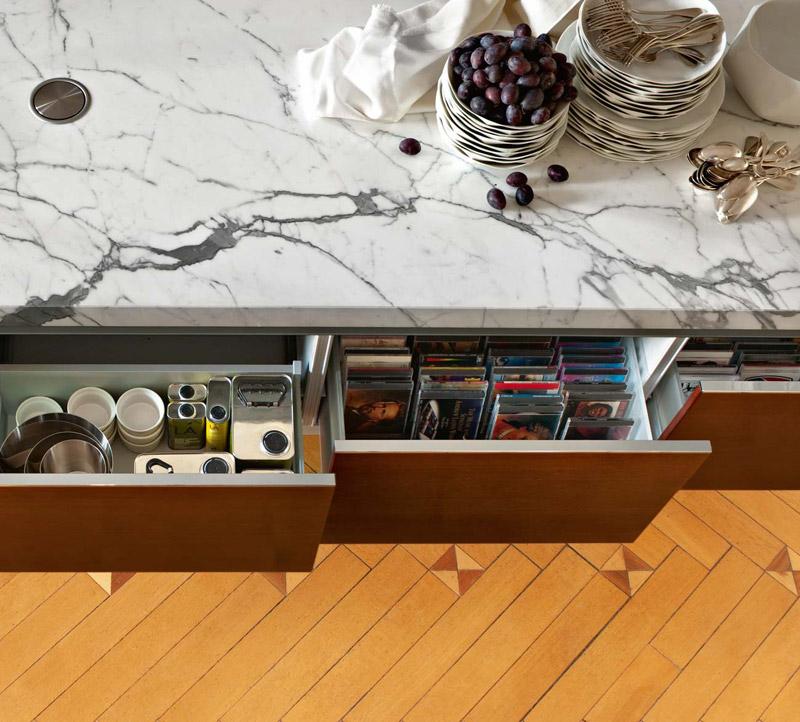 Cucina Moderna Library, contenitori