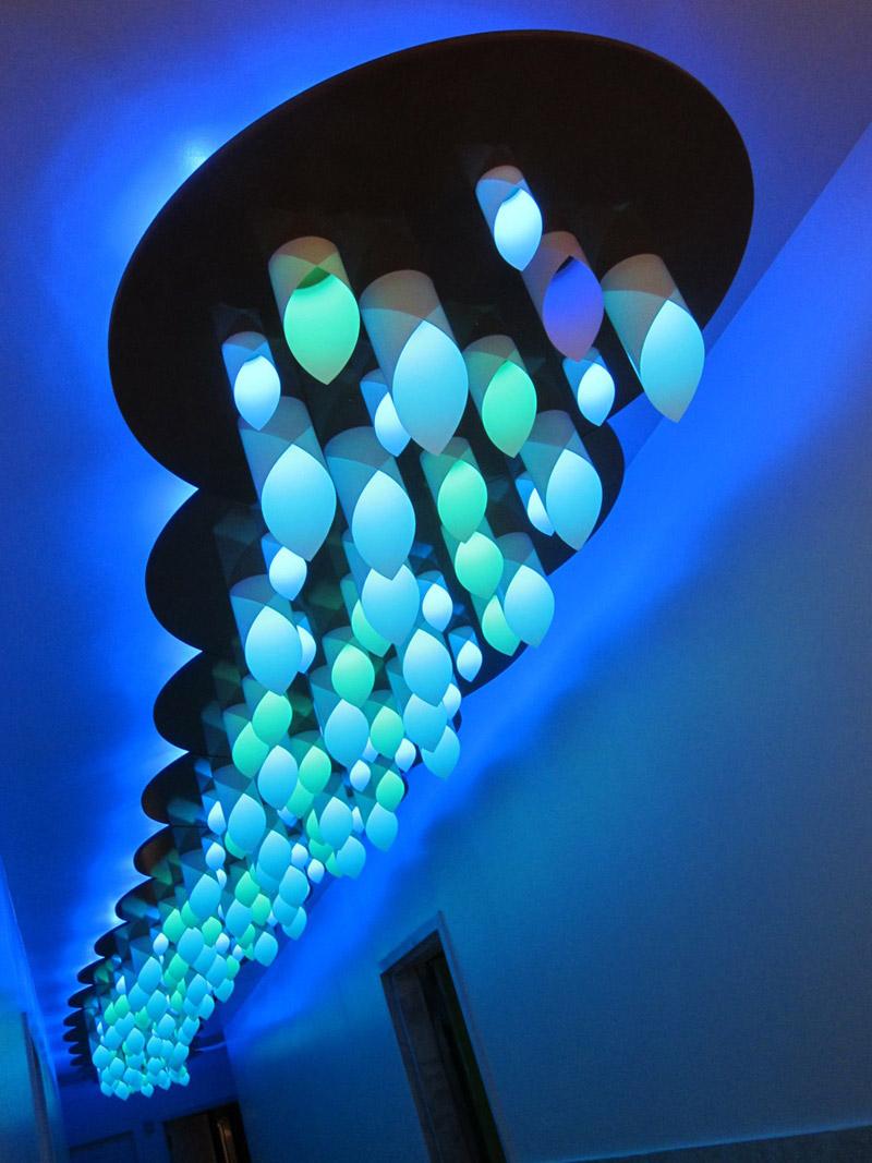Cloud, luci LED interattive