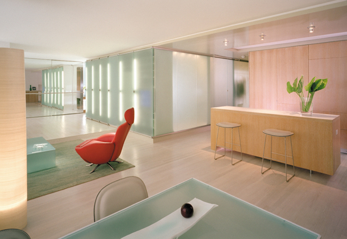 Luci LED nel design interni, Millenium Residence