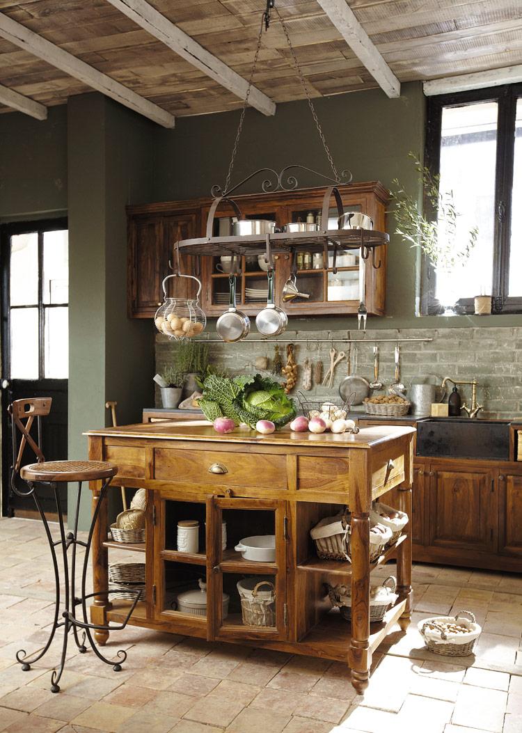 Maison Du Monde Opinioni lubéron, la bellezza del legno nella cucina classica   arredica